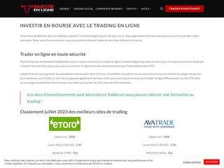 Détails : Investissement en ligne | Comment investir en ligne en bourse