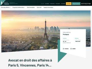 Détails : Avocat en droit des contrats à Paris 5