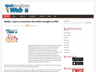 Détails : Cours de mathématiques | exercices maths |devoir et corrigés maths