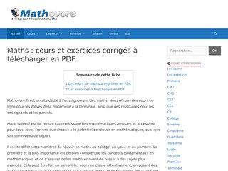 Détails : Les mathematiques pratiquées