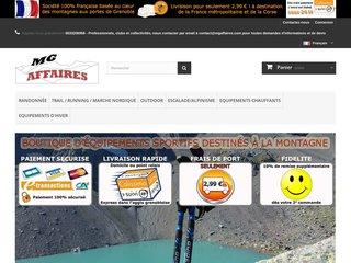 Détails : MG-Affaires : Vente de matériel d'escalade et de lampes frontales Petzl, produits chauffants Thermosoles