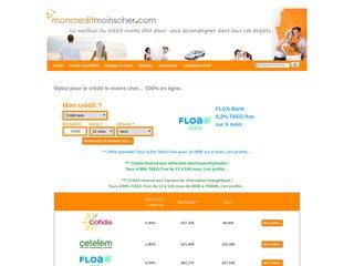 Moncreditmoinscher le crédit pas cher en ligne