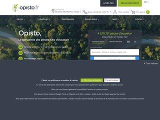 Détails : Opisto, achat de pieces d'occasion par internet