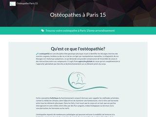 Détails : Osteopathe Paris