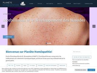 Détails : Planète-Homéo : web télévision sur l'homéopathie