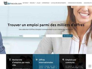 Détails : Qui-recrute : le site emploi pour toute la France