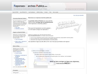 Détails : Correction de réponses aux marchés publics