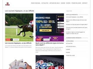Détails : Poker en ligne : guide d'information