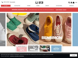Détails : Usine23.com, boutique de chaussures en ligne