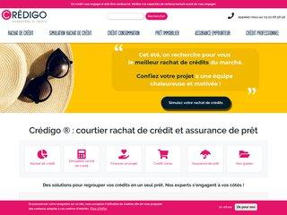 Rachat de credit Crédigo : rachat de prêt conso et immobilier
