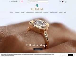 La marque Ghaum a con?u en fin d'ann?e 2013 une joaillerie en ligne qui va bousculer le secteur de la bague en or blanc.