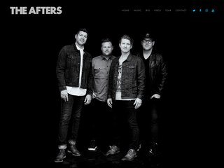 Screenshot of The Afters official website