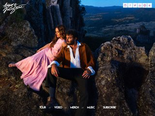 Screenshot of Angus & Julia Stone official website