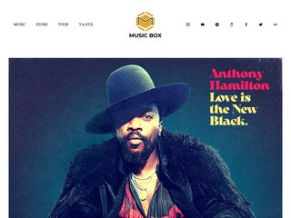 Screenshot of Anthony Hamilton official website