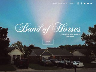 Screenshot of Band of Horses official website