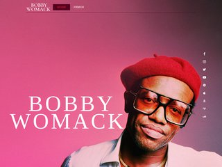 Screenshot of Bobby Womack official website