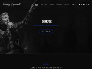 Screenshot of Brian Littrell official website
