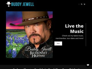 Screenshot of Buddy Jewell official website