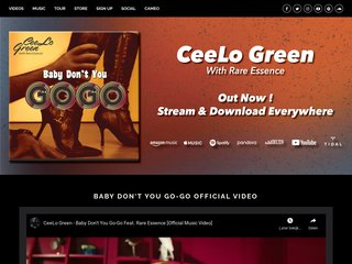 Screenshot of Cee-Lo official website