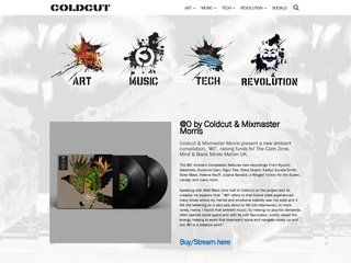 Screenshot of Coldcut official website
