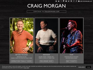 Screenshot of Craig Morgan official website