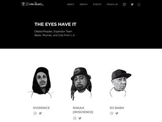 Screenshot of Dilated Peoples official website