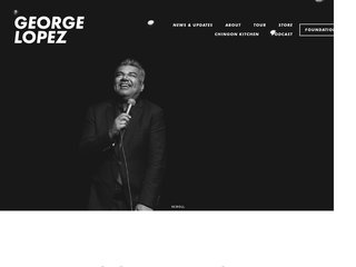 Screenshot of George Lopez official website