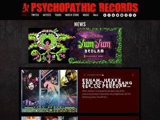 Screenshot of Insane Clown Posse official website