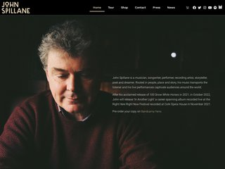 Screenshot of John Spillane official website