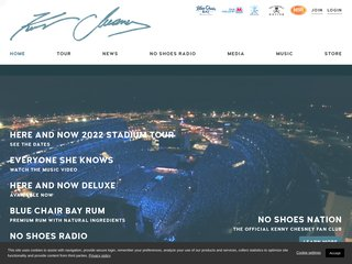 Screenshot of Kenny Chesney official website
