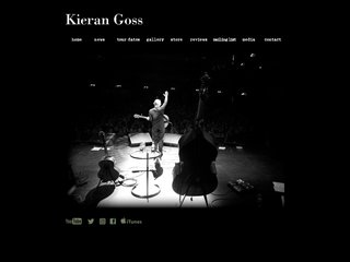 Screenshot of Kieran Goss official website