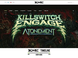 Screenshot of Killswitch Engage official website