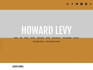 Screenshot of Howard Levy official website