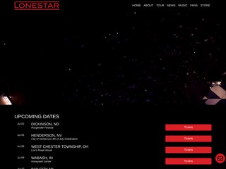 Screenshot of Lone Star official website