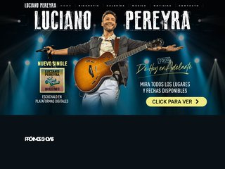 Screenshot of Luciano Pereyra official website
