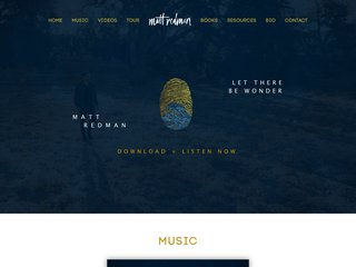 Screenshot of Matt Redman official website
