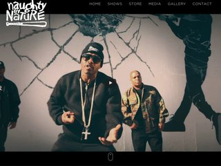 Screenshot of Naughty By Nature official website