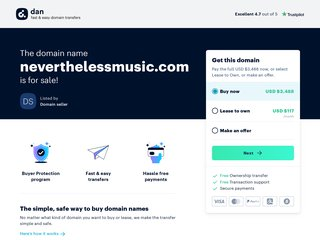 Screenshot of Nevertheless official website