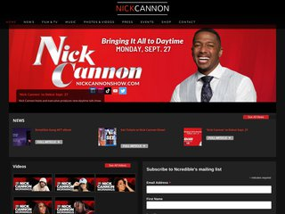 Screenshot of Nick Cannon official website