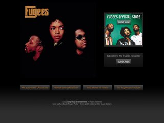 Screenshot of The Fugees official website