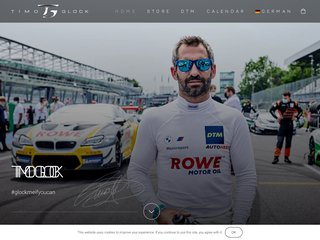 Screenshot of Timo Glock official website