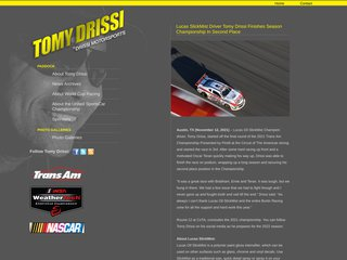 Screenshot of Tomy Drissi official website
