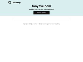 Screenshot of Tony Ave official website