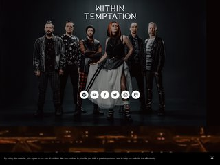 Screenshot of Within Temptation official website