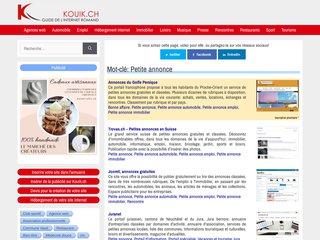 Détails : Site d'annonces gratuites en Suisse