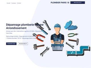 Plombier paris 18