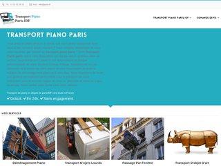 Détails : transport de piano