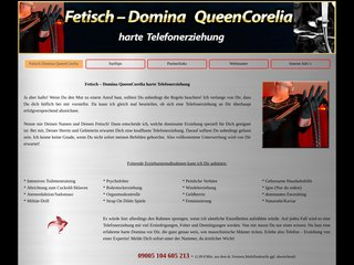 Détails : Fetisch – Domina QueenCorelia harte Telefonerziehung