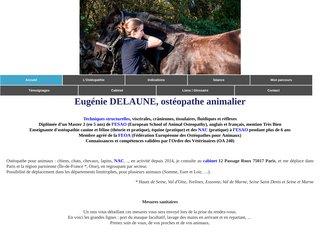 Eugénie DELAUNE, professeur ostéopathe animalier