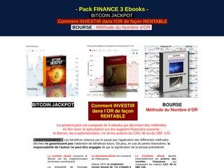 Pack FINANCE : 3 ebooks pour INVESTIR en Bourse